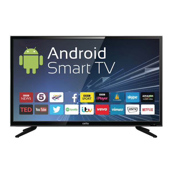 40inch Android Smart Freeview T2 HD LED TV With Wi-Fi C40ANSMT