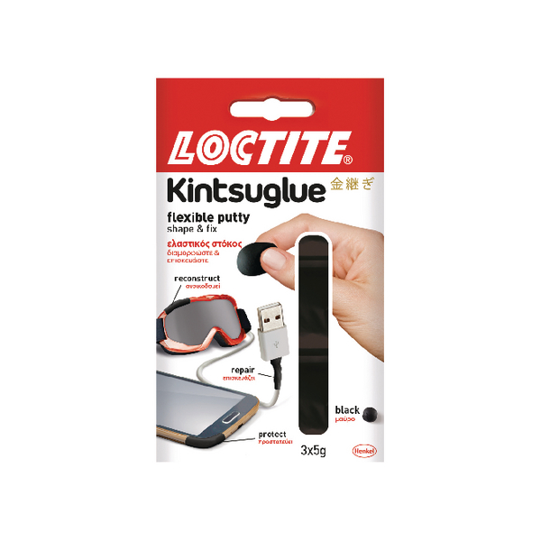 Loctite Kintsuglue Putty Black 5g Pack of 3 2239183