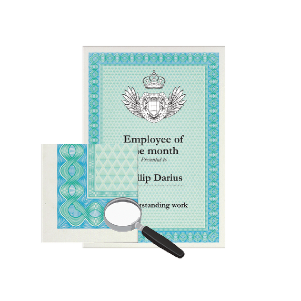 Decadry A4 Helicoid Turquoise/Blue B Certificate Paper 115gsm Pk70 DSD1052