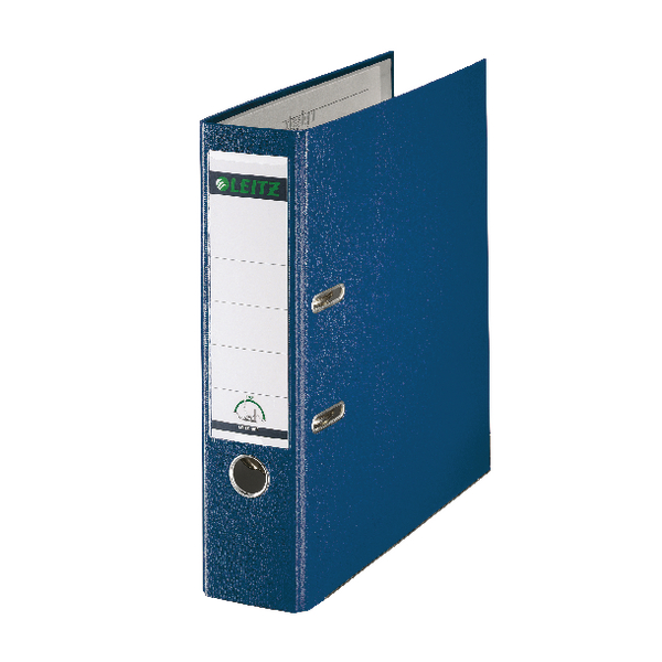 Leitz 180 Polypropylene A4 80mm Blue Lever Arch File (Pack of 10) 10101035