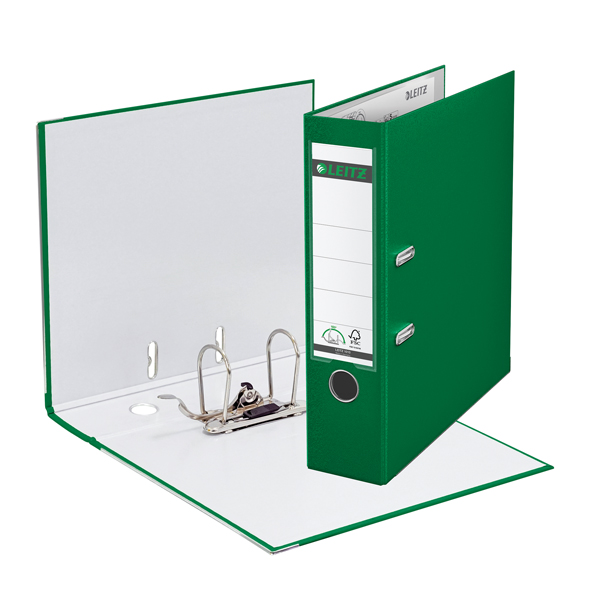 Leitz 80mm 180 Lever Arch File Polypropylene A4 Green (Pack of 10) 10101055