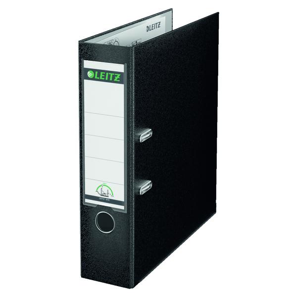 Leitz 180 Polypropylene A4 80mm Black Lever Arch File (Pack of 10) 10101095