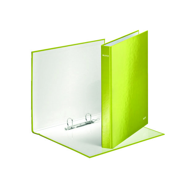 Leitz Wow A4 Plus 2 D-Ring Binder 25mm Green (Pack of 10) 42410064