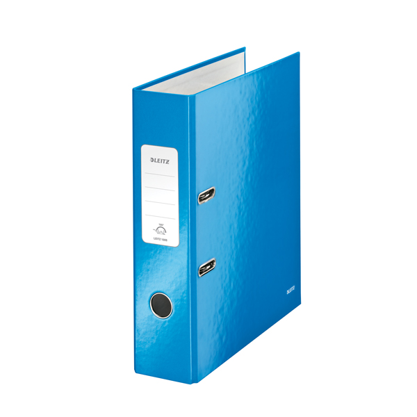 Leitz 180 Wow 80mm Metallic Blue A4 Lever Arch File (Pack of 10) 10050036