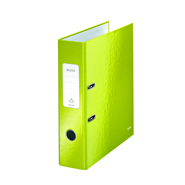 Leitz 180 Wow 80mm Metallic Green A4 Lever Arch File (Pack of 10) 10050064