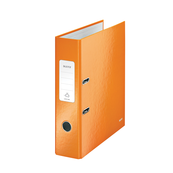 Leitz 180 Wow 80mm Metallic Orange A4 Lever Arch File (Pack of 10) 10050044