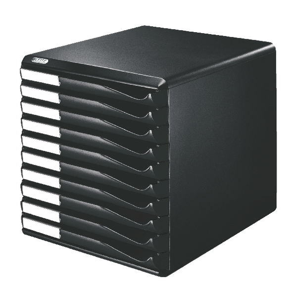 Leitz 10 Drawer Form Set Black /Black 5294-0095