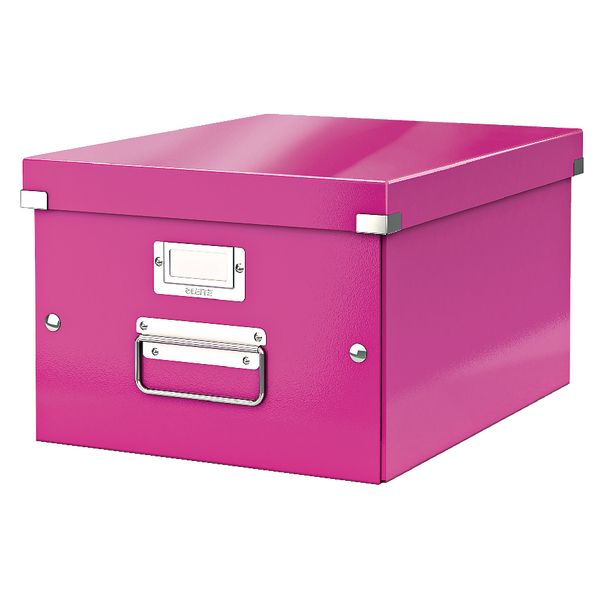 Leitz Click and Store Medium Storage Box Pink 60440001