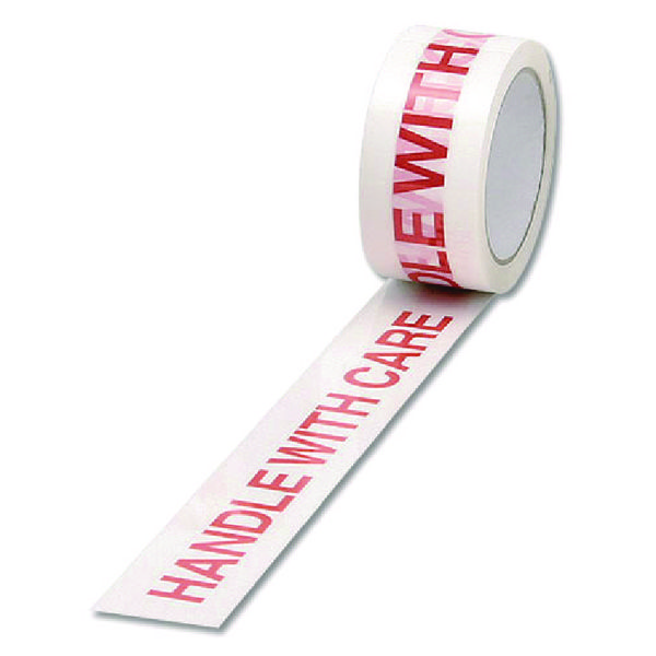 Catalogue - Vow Catalogue White/Red Polypropylene Tape Printed Handle With Care 50mmx66m (Pack of 6) 70581500
