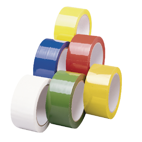 Yellow Polypropylene Tape 50mm x 66m Pack of 6 APPY-500066-LN