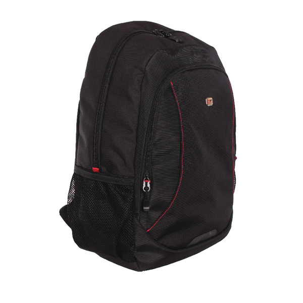 Gino Ferrari Eros 16 Inch Laptop Backpack Red Trim GF507