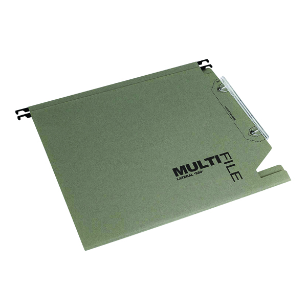 Rexel Multifile 15mm Lateral File Manilla 150 Sheet Green (Pack of 50) 78080