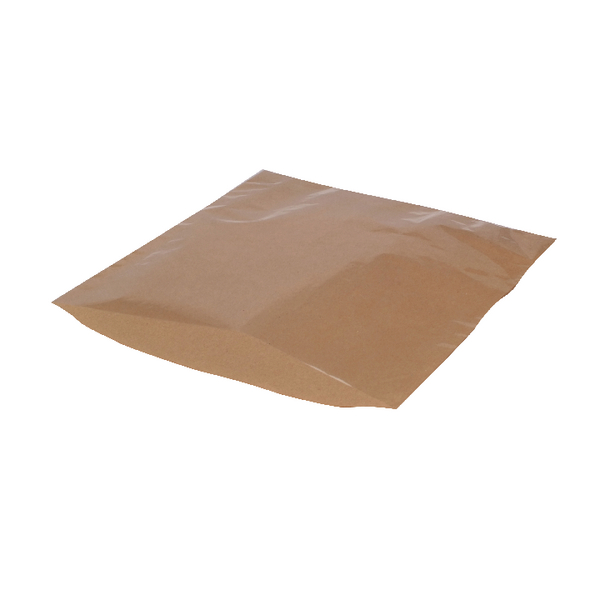 MyCafe Kraft Film Front Bags 175x175mm Brown (Pack of 1000) 303257
