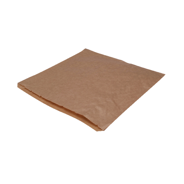 MyCafe Dependable Ribbed Kraft Bags Strung 250x250mm Brown (Pack of 1000) 201204S