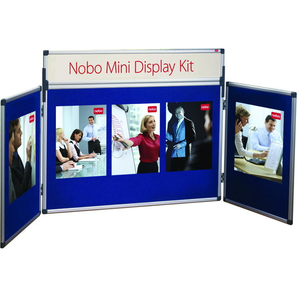 Nobo Blue Mini Desktop Display Kit