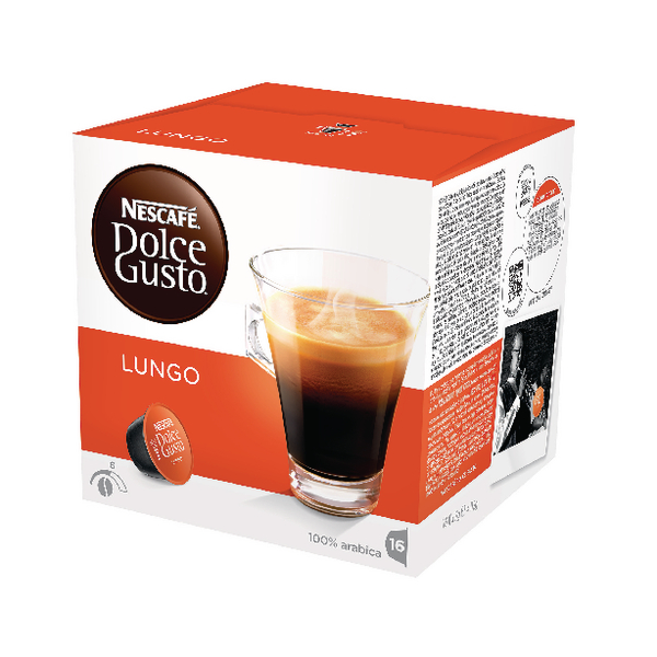 Nescafe Dolce Gusto Cafe Lungo Capsules (Pack of 48) 12019900