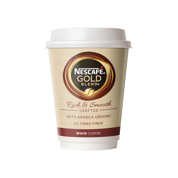 Nescafe and Go Gold Blend White Coffee (Pack of 8) 12033813