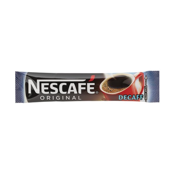 Nescafe Decaffeinated One Cup Sticks Coffee Sachets (Pack of 200) 12315595