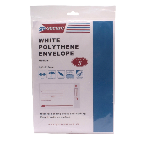 Go Secure Extra Strong Polythene Envelopes 245x320mm Pack of 50 PB08231
