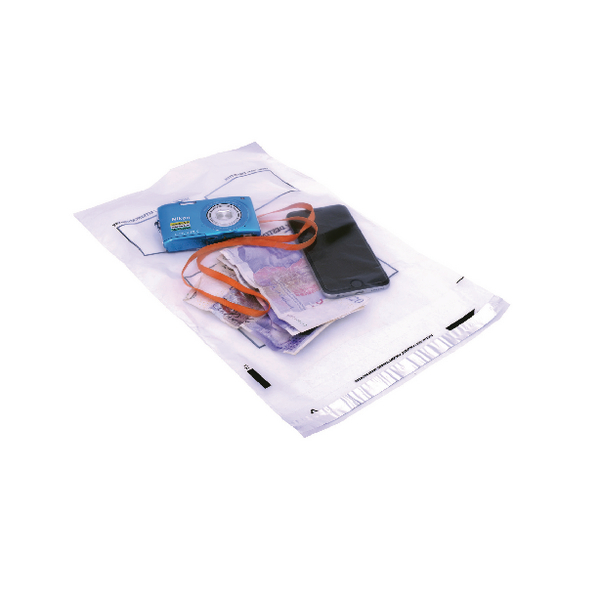 GoSecure Extra Strong 240x320mm Clear Polythene Envelope (Pack of 100) PB24242