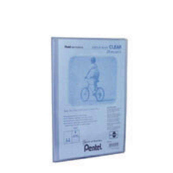 Pentel Recycology Clear 30 Pocket Blue A4 Display Book (Pack of 10) DCF243C