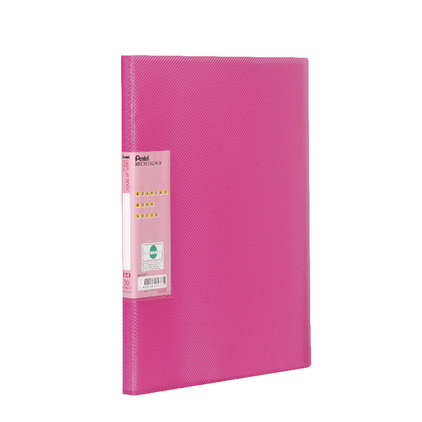 Pentel Recycology Vivid 30 Pocket Pink Display Book (Pack of 10) DCF343P