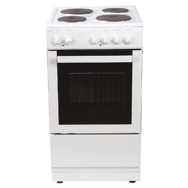 *Statesman Single Cavity Electric Cooker - White 50cm Delta 50E