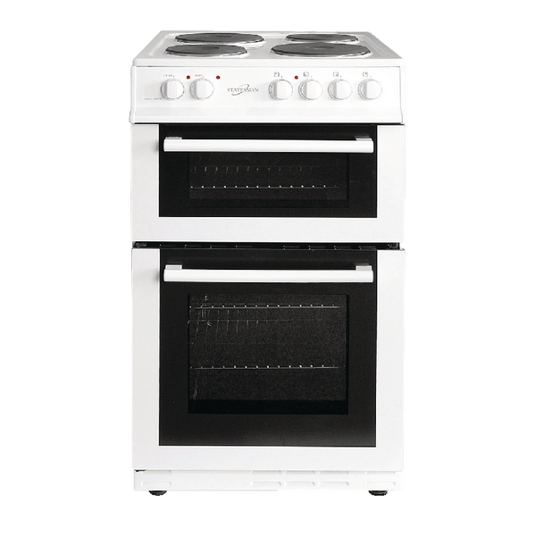 *Statesman Twin Cavity Electric Cooker - White 50cm Fusion 50ETW
