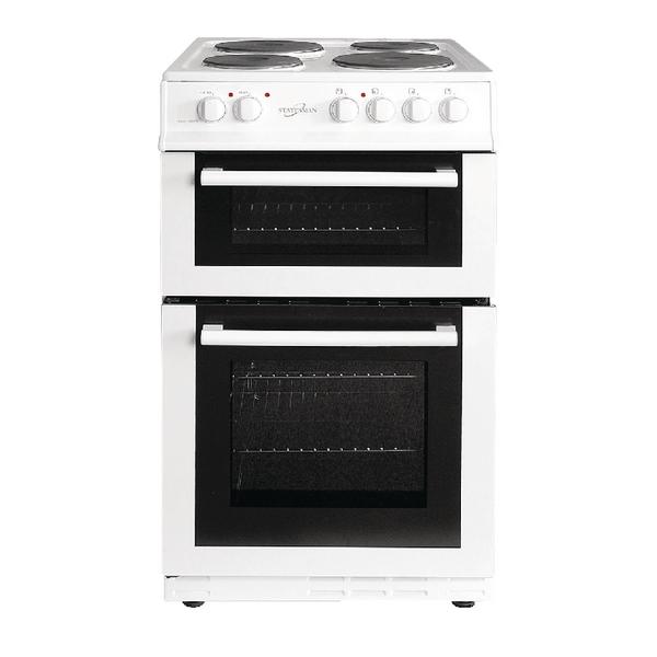 *Statesman Twin Cavity Electric Cooker - White 50cm Fusion 50ETW