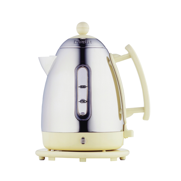 *Dualit 1.5L Cordless Jug Kettle Stainless Steel With Cream Trim DA7210
