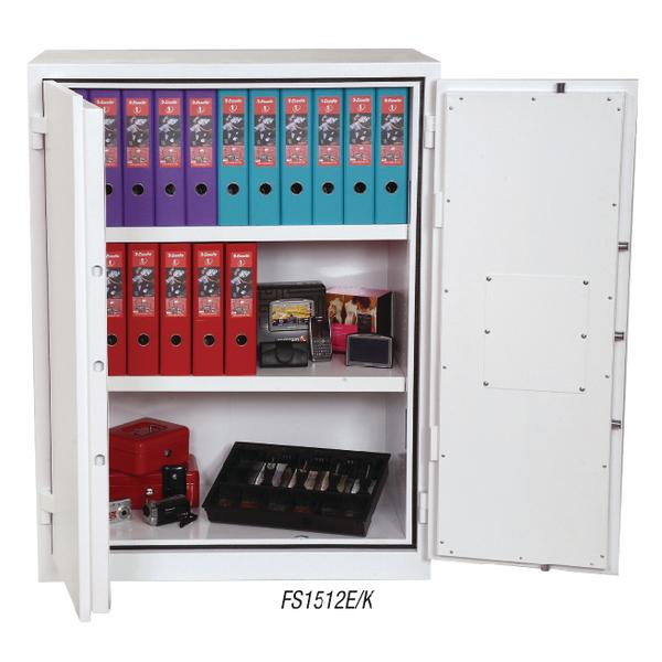 *Phoenix White Fire Ranger Cabinet Size 2 Key Lock FS1512K