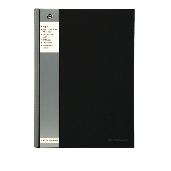 Pukka A4 Project Book Wirebound Polypropylene Feint Ruled 250 Pages Black (Pack of 3) SBPROBA4