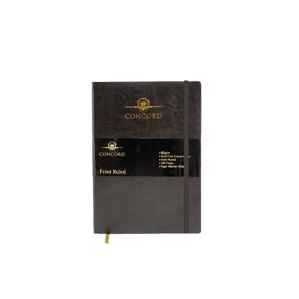 Concord Noir Flexi Notebook B5 Feint Ruled 160 Pages (Pack of 3) 7536-NOI