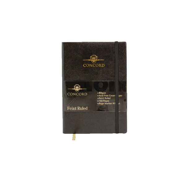 Concord Noir Flexi A5 Notebook Feint Ruled 160 Pages (Pack of 3) 7537-NOI