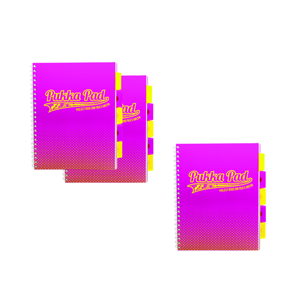 Pukka Halftone Project Book A4 Assorted Buy 3 Packs for the Price of 2 PP816958
