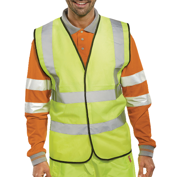 Proforce High Visibility 2-Band Waistcoat Yellow XX Large HV08YL560