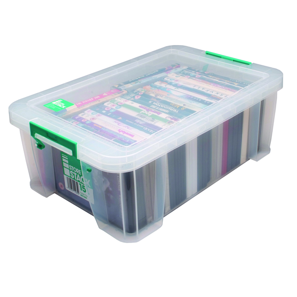 StoreStack 15 Litre Clear W300xD470xH170mm Storage Box RB11085