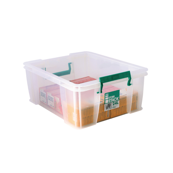 StoreStack 24 Litre Clear W480xD380xH190mm Storage Box RB11087
