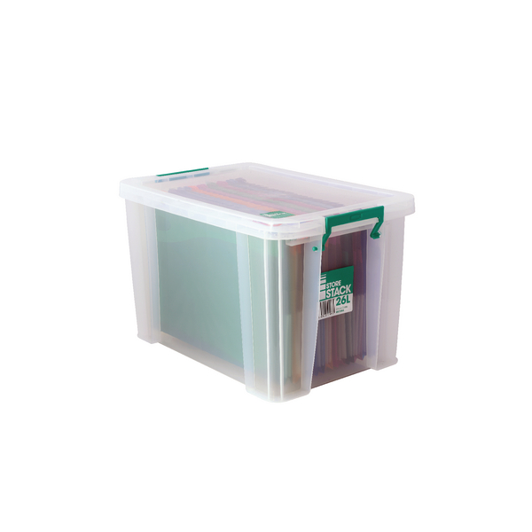 StoreStack 26 Litre Clear W470xD300xH290mm Storage Box RB11088