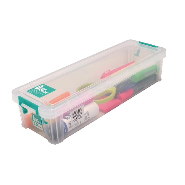 StoreStack 2.2 Litre Clear W370xD110xH80mm Storage Box RB75896