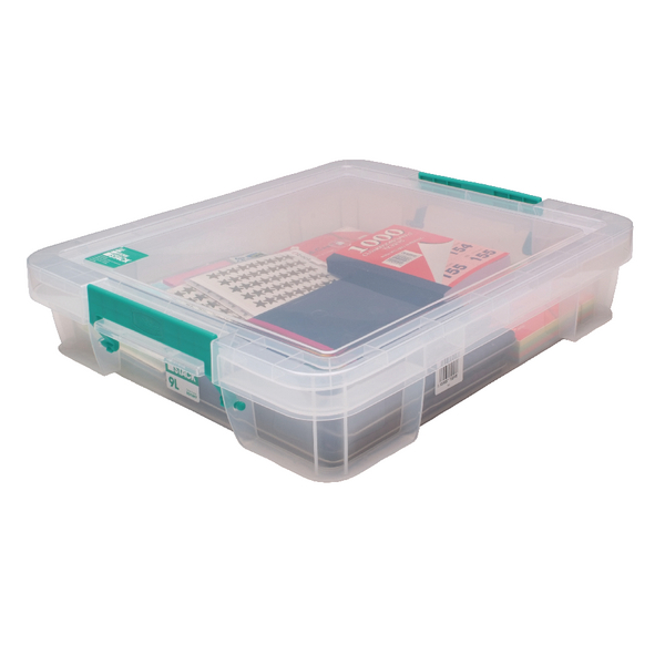 StoreStack 9 Litre Clear W430xD360xH90mm Storage Box RB75897