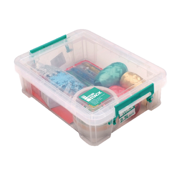 StoreStack 2.3 Litre Clear W260xD190xH70mm Storage Box RB90119