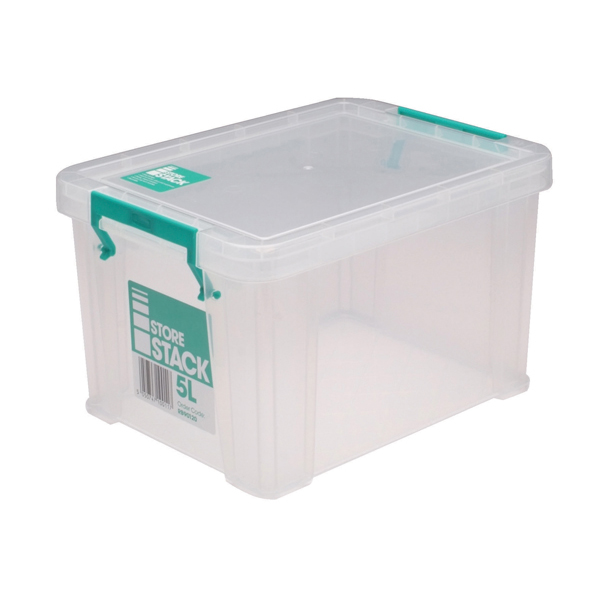 StoreStack 5 Litre Clear W260xD190xH150mm Storage Box RB90120