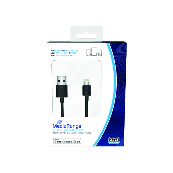 MediaRange Charge and Sync Cable USB 2.0 to Apple Lightning MRCS137