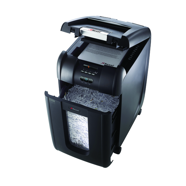 Rexel Auto+ 300X Cross Cut Shredder Black 2103250