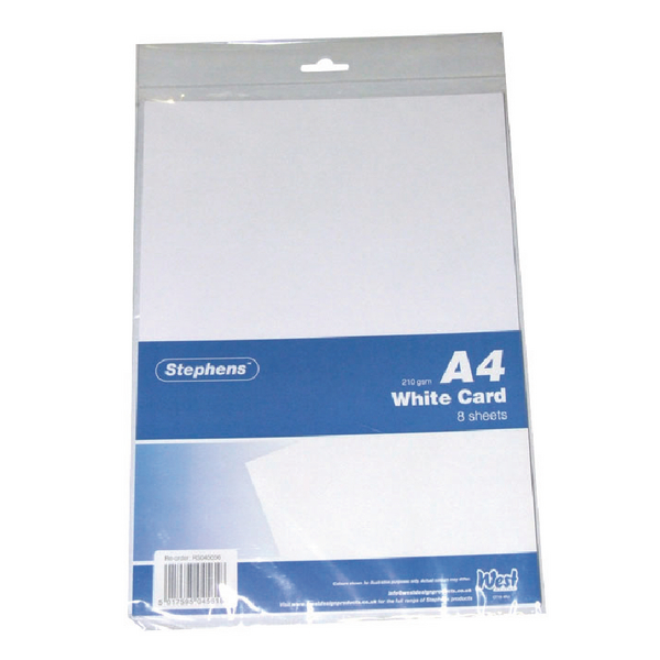 Stephens White A4 Craft Card (Pack of 10) RS045656