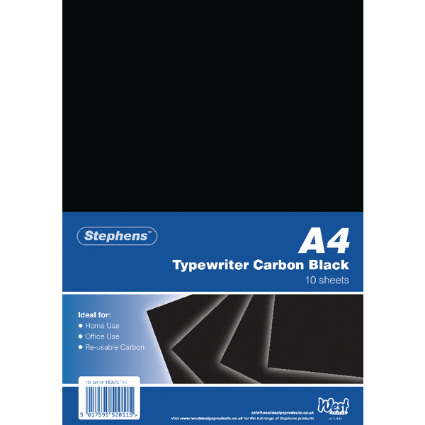 Stephens Black Typewriter Carbon A4 Paper (Pack of 100) RS520153