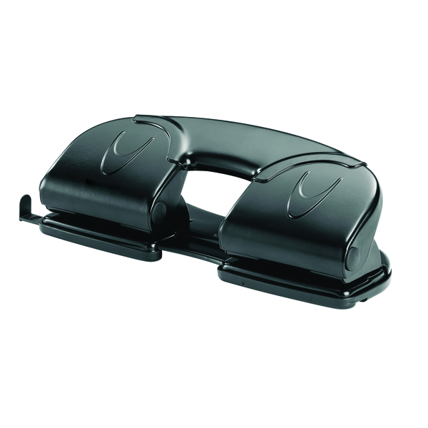 Rexel V412 4 Hole Punch Black 08309