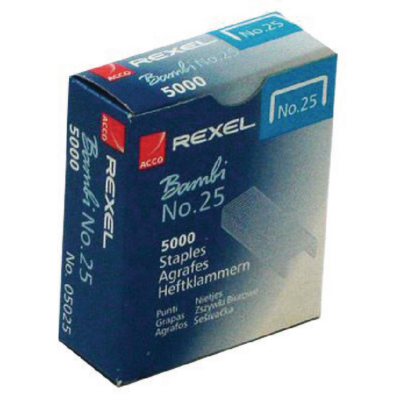 Rexel No. 25 Staples (Pack of 5000) 05025