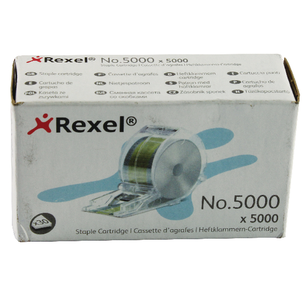 Rexel No.5000 Staples Cartridge For Stella 30 (Pack of 5000) 06308